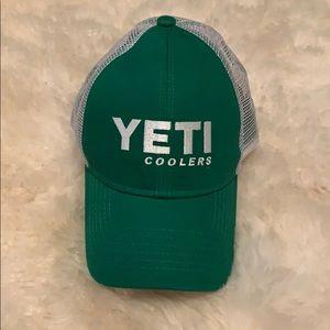 YETI Green and white SnapBack hat